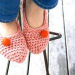 Crochet Slippers for Women,..