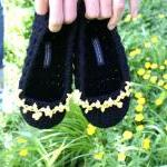 Crochet Slippers with Flora..