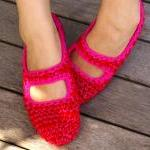Crochet Mary Jane House Sli..